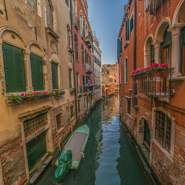 Venice canal by Yordan Mihov - City,  Street & Park  Historic Districts ( venice, buildings, historical, italian, water, italy, architecture )