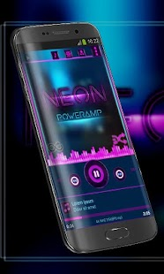 Neon pink Poweramp Skin - screenshot
