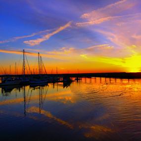 Almost set by Ivy Luna - Landscapes Sunsets & Sunrises ( #landscapes, #color of sunset, #sun, #sunset,  )