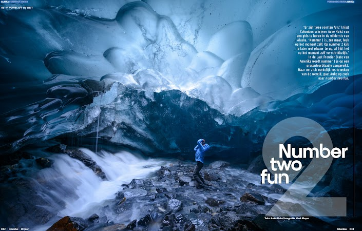 Under the Mendenhall Glacier for Columbus Magazine