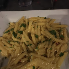 Garlic and olive oil pasta, only ok