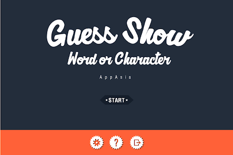 Guess Show : Word or Character - screenshot