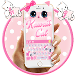 Cute Kawaii Kitty Pink Bow Keyboard Theme Icon