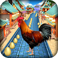 Angry Rooster Run - Animal Escape Subway Run APK