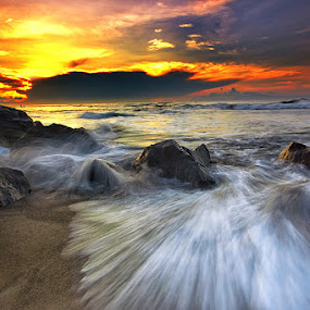 The End Of Manyar Beach by Agoes Antara - Landscapes Waterscapes