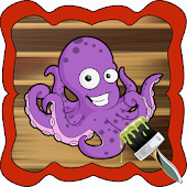 Download Squid Family Cartoon Coloring APK on PC
