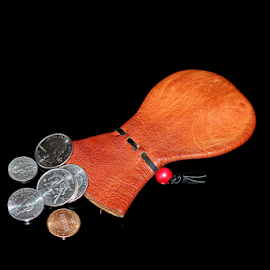 Skippy and Change by Tony Huffaker - Artistic Objects Other Objects ( coins, pouch, money, object, skippy,  )