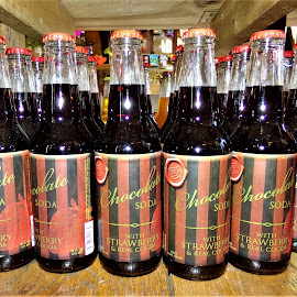 Chocolate Soda w Strawberry by Cheryl Beaudoin - Food & Drink Alcohol & Drinks ( real, chocolate, cocoa, drink, soda, strawberry )