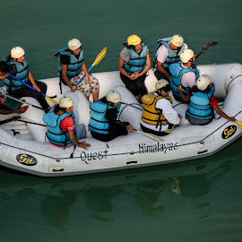 Rafting by Rupesh Anand - Sports & Fitness Watersports ( adventure, teamwork, sports, rafting, river )