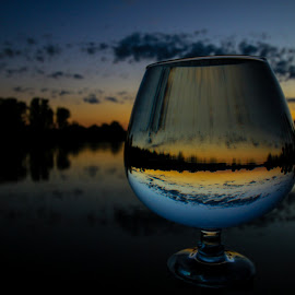 Stormy  by Stefan Klein - Artistic Objects Glass ( sunrises, nature, glass, weather, river,  )