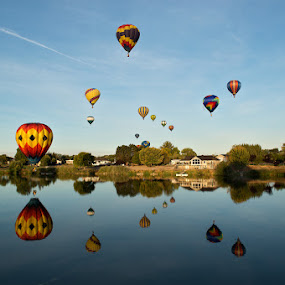 Prosser Hot Air Balloon Festival by Peter Cheung - Landscapes Travel