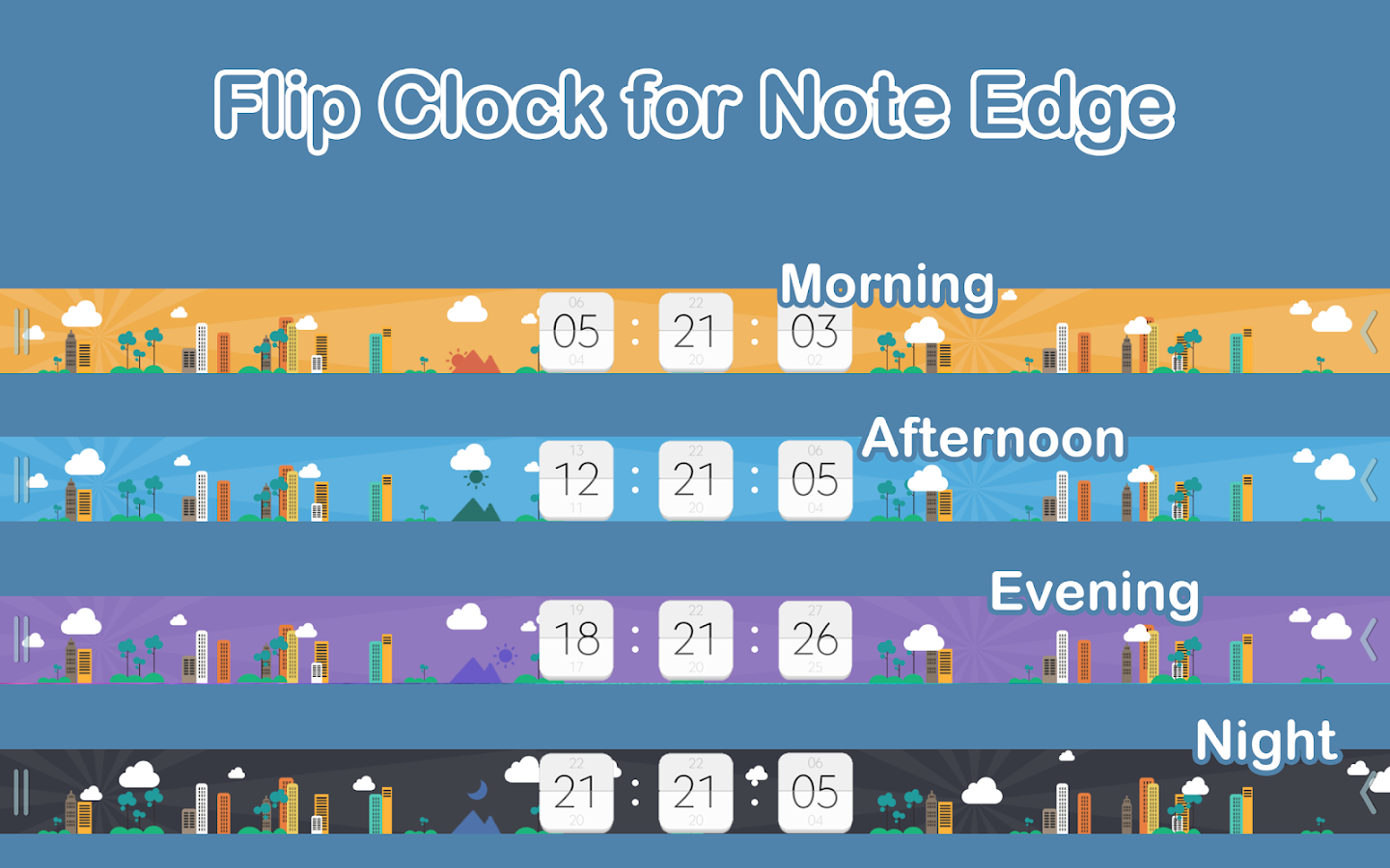 Flip Clock for Note Edge Screenshot 0