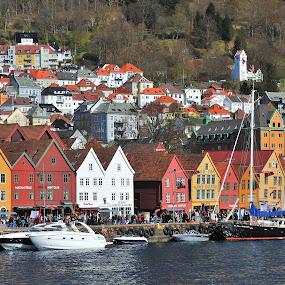 Bergen by Tomasz Budziak - City,  Street & Park  Historic Districts ( bergen, city, norway )
