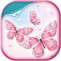Pink Butterfly Live Wallpaper APK for Bluestacks