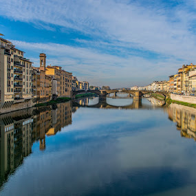 View from Ponte Vecchio by Hariharan Venkatakrishnan - City,  Street & Park  Vistas
