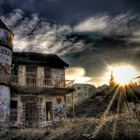 .048 by Aleksandar Z Dimitrijević - Buildings & Architecture Public & Historical ( old house, playground, hdr, sunset )