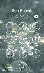 Snowflake Keypad Lock Screen - screenshot