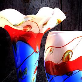 Festival Glass by Jim Johnston - Artistic Objects Glass