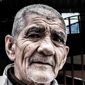 Old man with wrinkles by Satyam Joshi - People Portraits of Men ( canon, gangnam style, face, monochrome, gangnam, canon t2i, usa, mt everest, stewart, kanchanjungha, annapurna, great wall, barcelona, nepal, canon 550d, china, sarangkot, nepalgunj, ronaldo, rara, pattinson, portrait, pokhara, kathmandu, emma watson, natgeo, australia, burj, taj mahal, khaptad, senior citizen )