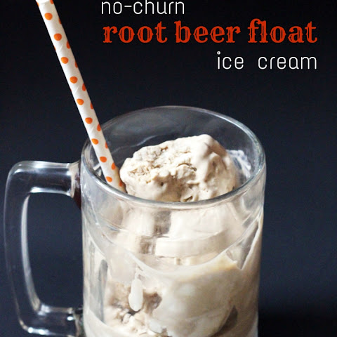 No-Churn Root Beer Float Ice Cream
