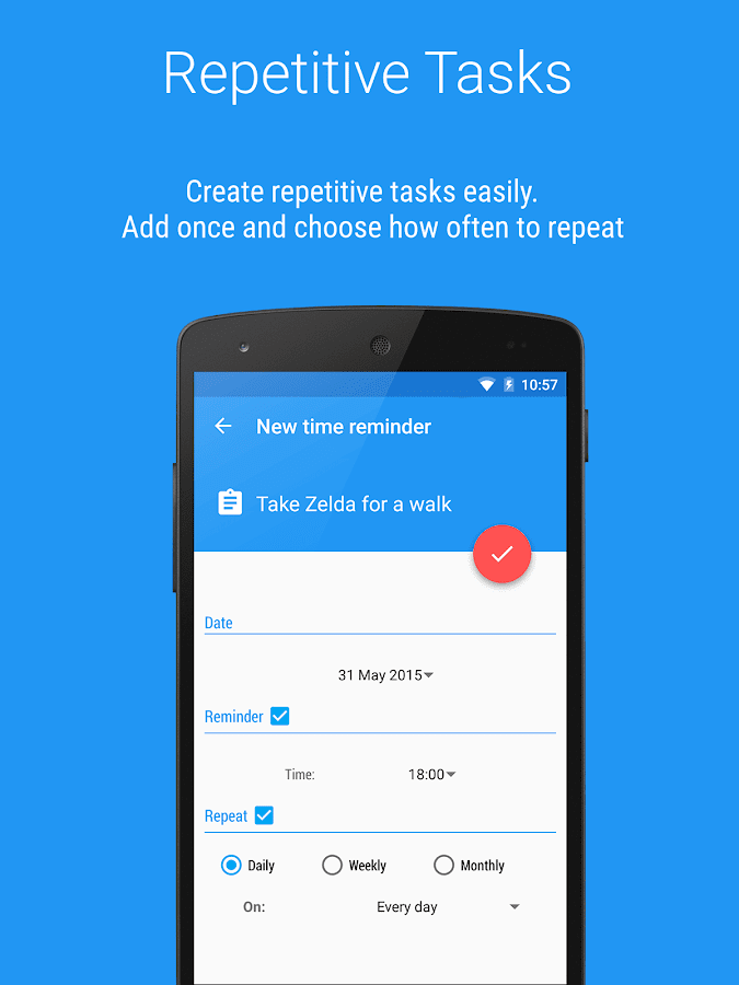 Reminders - Task reminder app Screenshot 1