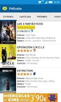 Screenshot of Cinesa: Cartelera de películas