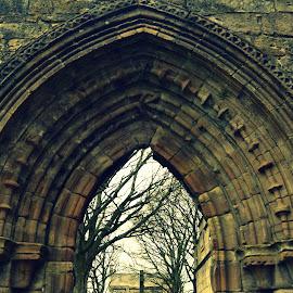 Kilwinning Abbey by Sarka Brichová - Novices Only Objects & Still Life ( walls, cemetery, stone, dead, historic, abbey )