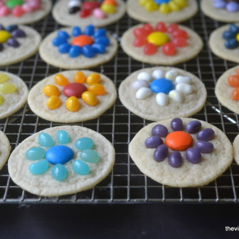 Easy Jelly Bean Flower Cookies