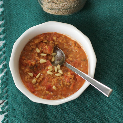 Simmered Tomatoes & Farro