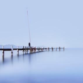 La pasarela by Daly Sda - Landscapes Waterscapes ( leman, sunrise, waterscape, lake,  )