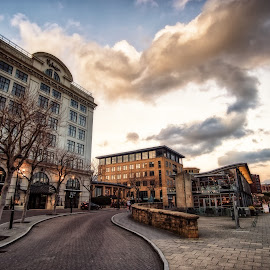 Newcastle's Quayside by Adam Lang - City,  Street & Park  Historic Districts ( co-op, quayside, street, pitcher and piano, newcastle )