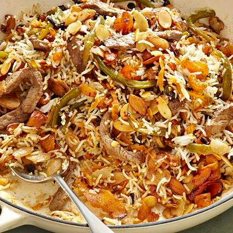 Beef, Apricot And Almond Pilaf