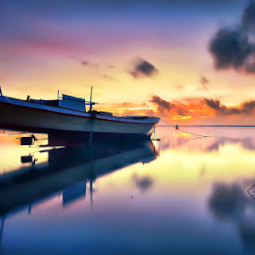 by Hendri Suhandi - Landscapes Travel ( bali, reflection, tuban, sunset, long exposure, sunrise, boat )