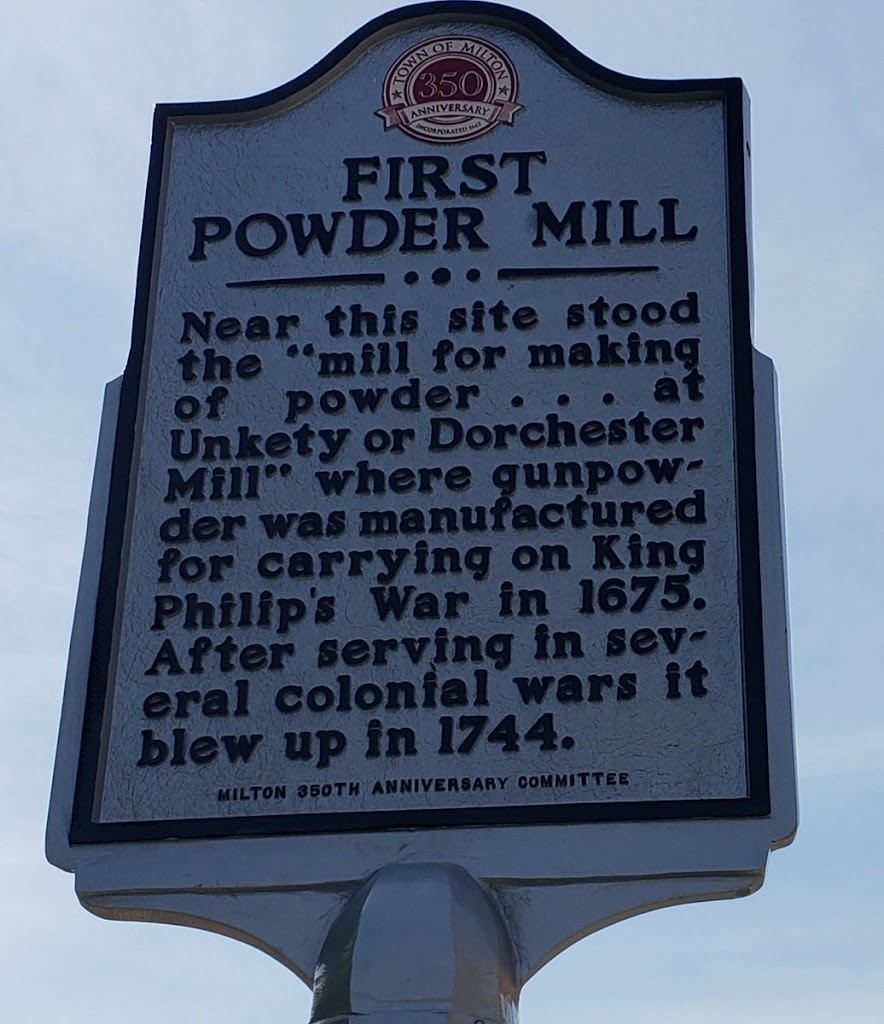 FIRST POWDER MILL Near this site stood the