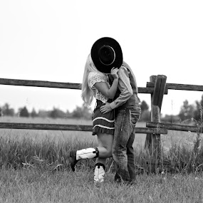 Country Love by Cassidy Meade - Uncategorized All Uncategorized ( relationship, cowboy, black and white, montana, cowgirl, western, couple, nikon, country )