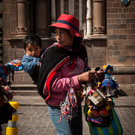 family by Aurora Villegas - People Family ( mother, family, street, baby, working, KidsOfSummer )