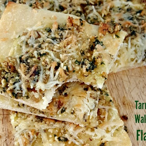 Tarragon Walnut Pesto Flatbread