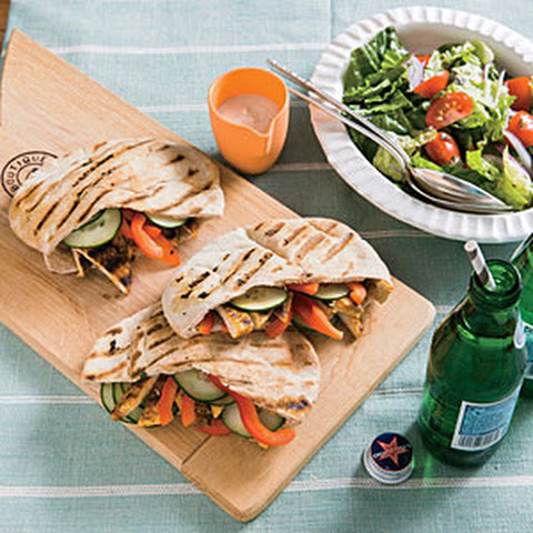 Turkey Pitas with Tahini-Yogurt Sauce