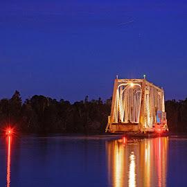 Lighted Beauty by Will McNamee - Buildings & Architecture Bridges & Suspended Structures ( aundiram@msn.com, danielmcnamee@comcast.net, mcnamee2169@yahoo.com, ronmead179@comcast.net )