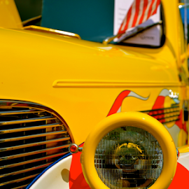 Stars and Stripes by Dave Feldkamp - Transportation Automobiles ( flag, headlights, cars, stars, headlight, stripes, hot rod )