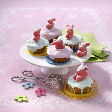 Easter Bunny Carrot Cupcakes
