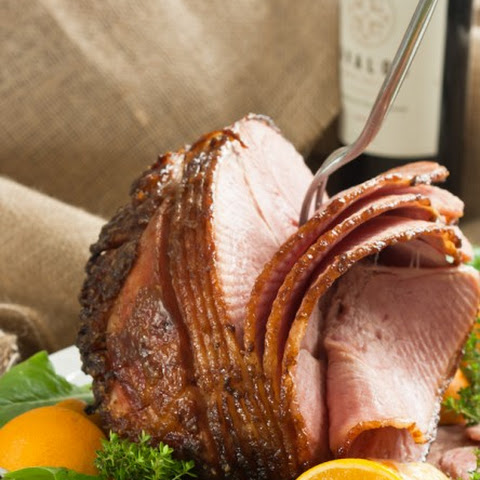 Bourbon And Brown Sugar Glazed Ham