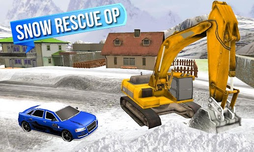 Snow Excavator Rescue Sim 3D - screenshot