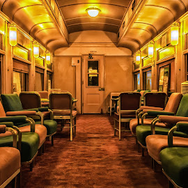Old Lounge Car by James Kirk - Transportation Trains ( cars, lounge, lounge cars, antique, historic, trains )