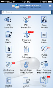Pill Identifier and Drug list screenshot for Android