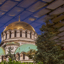 Gold-plated dome of Alexander Nevsky Cathedral, Sofia, Bulgaria by Estislav Ploshtakov - City,  Street & Park  Street Scenes