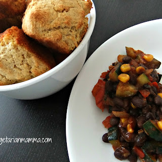 Southwest Beans with Cornbread