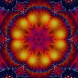 Fractal kaleidoscope, mandala 8 by Cassy 67 - Illustration Abstract & Patterns ( digital, love, harmony, art, abstract art, mandala, abstract, fractals, digital art, kaleidoscope, modern, light, fractal, energy )