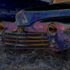 Lights out by Benito Flores Jr - Transportation Automobiles ( roadside, car, texas, abandoned )