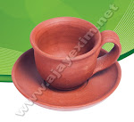Handmade Clay Cup & Saucer